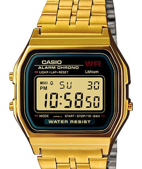 Relógio Casio Feminino Vintage Digital Dourado Original Nota
