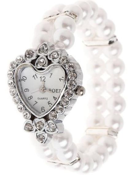 Relógio Feminino Watch Pulso Luxo Mulheres Com Bracelete