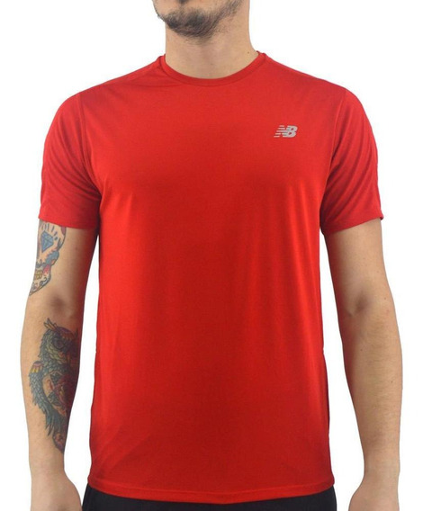 Remera New Balance Hombre Accelerate Ss Running Rojo