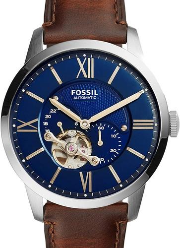 Relógio Fossil Masculino Automatico Couro Me3110