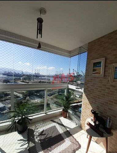 Imagem 1 de 18 de Apartamento Com 2 Dormitórios À Venda, 67 M² Por R$ 498.000,00 - Estuário - Santos/sp - Ap5705