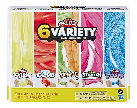Play-doh 6 Compuestos Slime Nube Krackle Stretch Foam *sk
