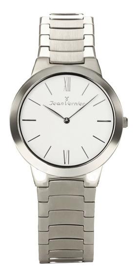 Relógio Analogo Jean Vernier Jv7686b Prata
