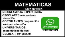 Clases Matemáticas(uni) A Domicilio Escolar,pre-u,universit