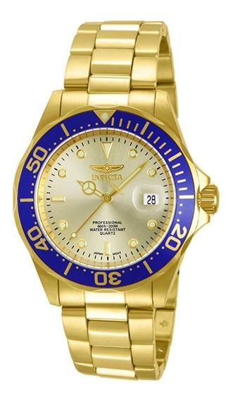 Invicta Hombre 14124 Pro Diver Reloj Acero Inoxidable 18k