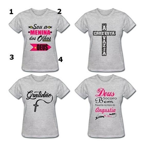 Kit C/ 5 Camisas Baybelook Feminina Evangelica Menor Preço