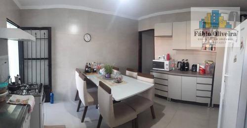 Sobrado Com 3 Dormitórios À Venda, 200 M² Por R$ 450.000 - Vila Mazzei - Santo André/sp - So0443