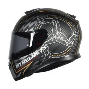 Capacete Mt Helmets Thunder 3 Isle Of Man Matt Black/gold