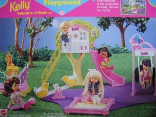 Barbie Kelly Parque Infantil Playset En Casa En El Arbol Tob