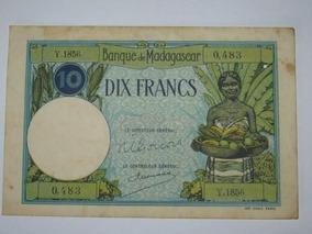 Cédula De Madagascar 10 Francos