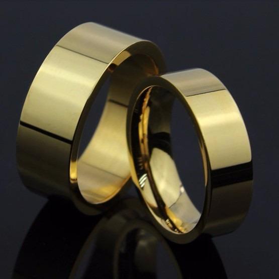 Aliança Reta 6/8mm Moeda Antiga Anatômica Noivado Casamento