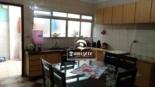 Casa Com 2 Dormitórios À Venda, 201 M² Por R$ 530.000,10 - Vila Alzira - Santo André/sp - Ca0844