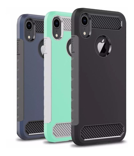 Forro Hibrido Case Doble Para Apple iPhone XR Antigolpes