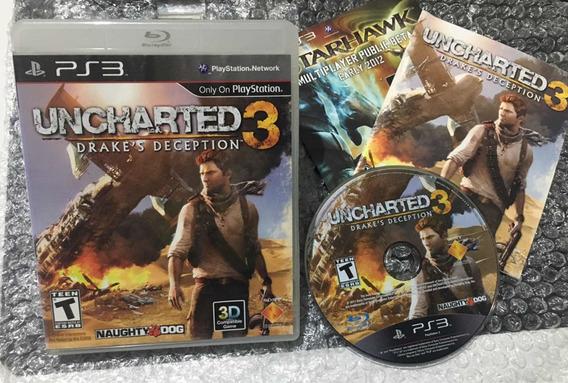 Uncharted 3 Ps3 Mídia Física! Seminovo ! Dublado