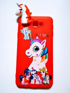 Funda Para Celular Samsung J7 Prime Unicornio Muñeco