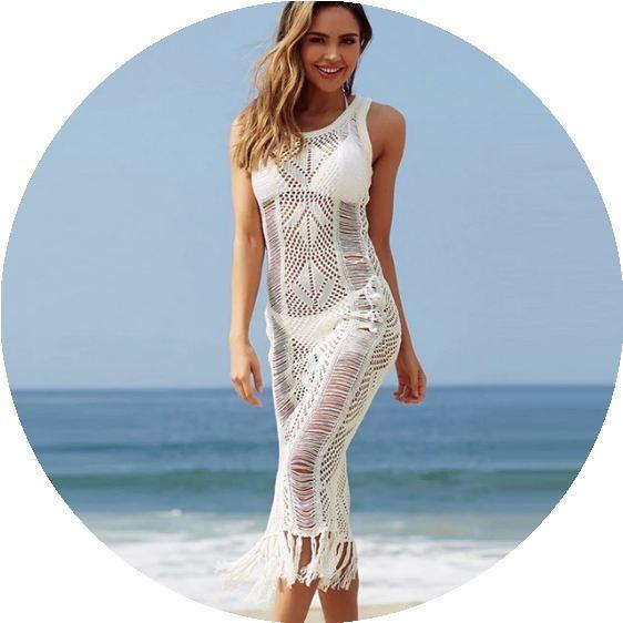 Hermoso Vestido Tejido Para Salida De Playa Mpb-424