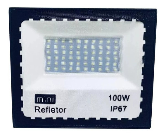 Refletor De Led 100w Bivolt Branco Frio Ip66 Bivolt