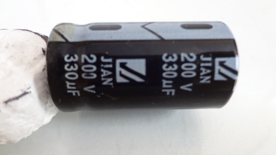 Capacitor Eletrolítico 330uf 200v Jian Usado