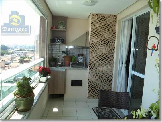 Apartamento Com 2 Dormitórios À Venda, 77 M² Por R$ 550.000,00 - Campestre - Santo André/sp - Ap4323