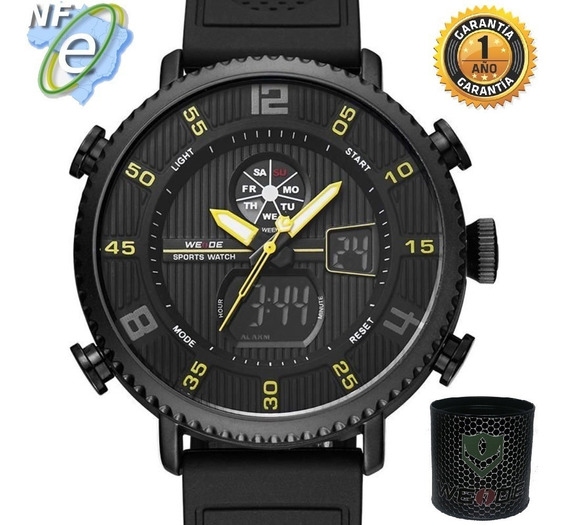 Relógios Masculinos Esportivo Original Militar Aguá Preto