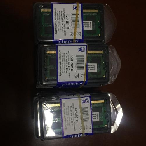 Imagen 1 de 1 de Memorias Kingston Ddr3 8gb  1600mhz  Nuevas Selladas Laptop