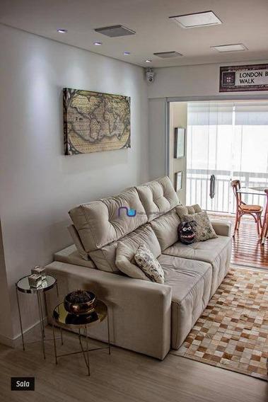 Apartamento Com 2 Dormitórios À Venda, 70 M² Por R$ 600.000 - Belenzinho - São Paulo/sp - Ap3791