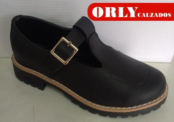 Zapato Colegial Nena Guillermina Calzados Orly Cod. 503