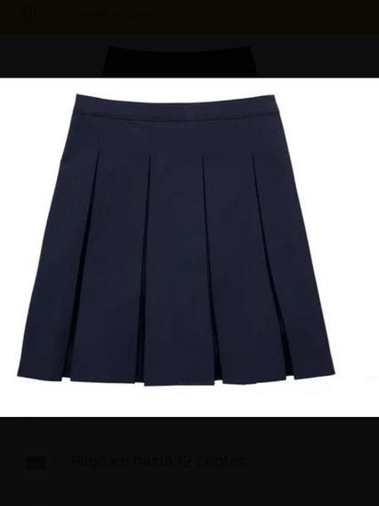 Falda Azul Y Pantalon Gris Escolar