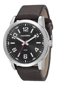 Relógio Mondaine Masculino Prata/marrom 99071g0mvnh1k1