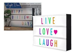 Caja De Luz Led Lightbox A4 Pizarra. Letras Colores