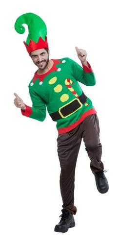 Imagen 1 de 1 de Suéter Ugly Sweater De Duende Sueter Verde Navideño