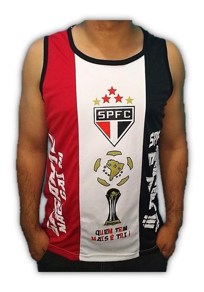 Camisa Time Do São Paulo Regata Tricolor Tri Campeão Mundial