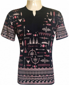 e6f8926cd6 Camiseta Bata Indiana Flechas Viscose