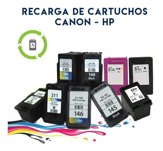 Recarga De Cartuchos Hp - Canon - En El Momento - Infotronic