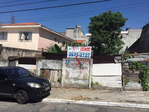 Terreno À Venda, 250 M² Por R$ 350.000,00 - Jardim Vila Formosa - São Paulo/sp - Te0331