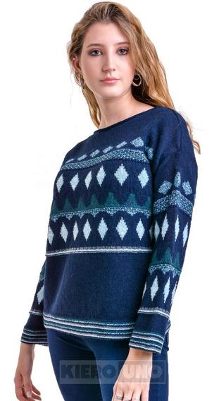 Sweater Saco Con Lurex Cuello Redondo Brillos Kierouno