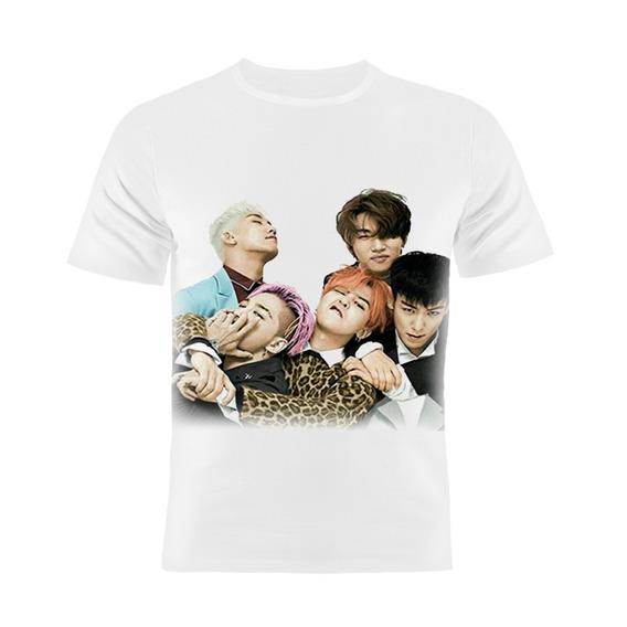 Camiseta Manga Curta Kpop Big Bang Coreanos