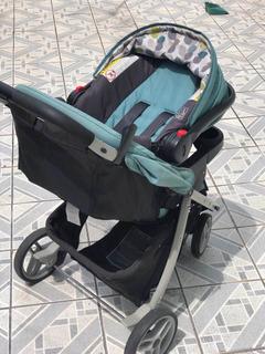 Carrinho De Bebê + Bb Conforto Com Base Para Carro Graco
