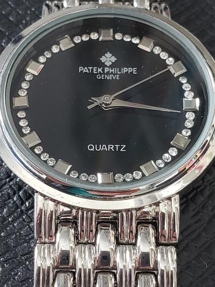 Relógio Patek Phillipe Geneve Quatz Feminino Pulso + Brinde
