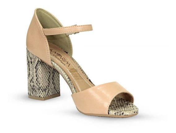 Sapato Sandalia Feminina Salto Grosso Ramarim Conforto