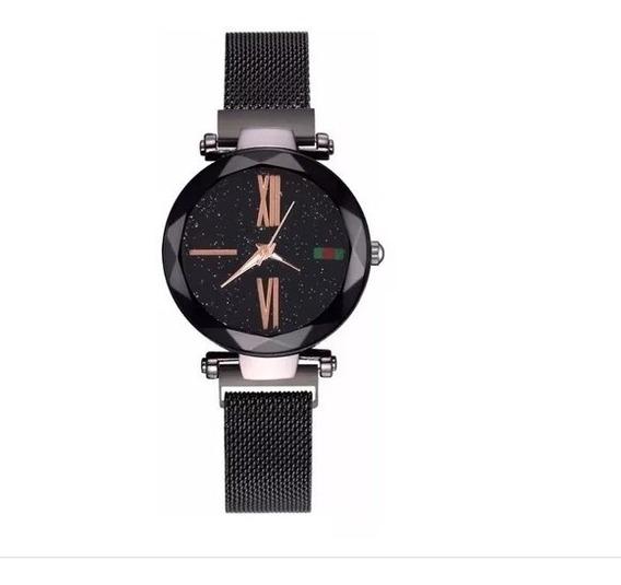 Relógio Feminino,céu Estrelado Pulseira Magnética Promoção!