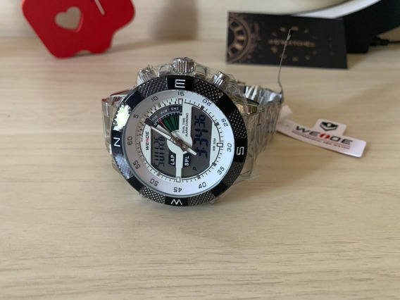 Relógio Masculino Weide Display Duplo Led