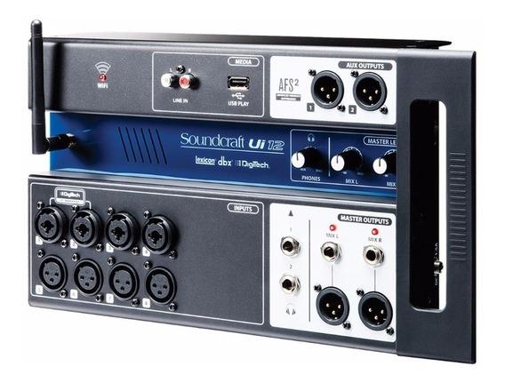 Mesa Som Digital Soundcraft Ui12 12 Canais - Loja