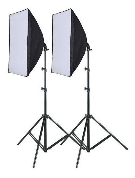 Kit Youtuber 2 Softbox 50 X 70 E27 Luz + 2 Tripes 2m