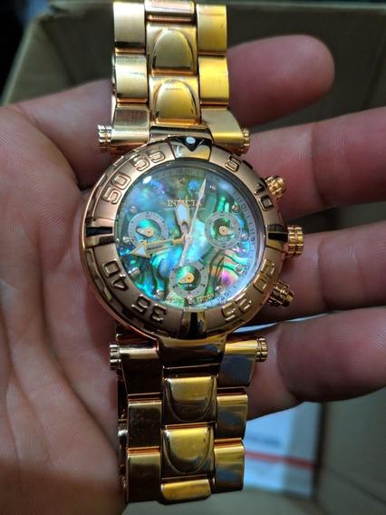 Relógio Invicta Ouro Rosê Com Madrepérola Feminino Ref 23648