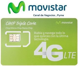 Lineas Movistar Corporativas (paq. 18.4 Gb) 4 Chips