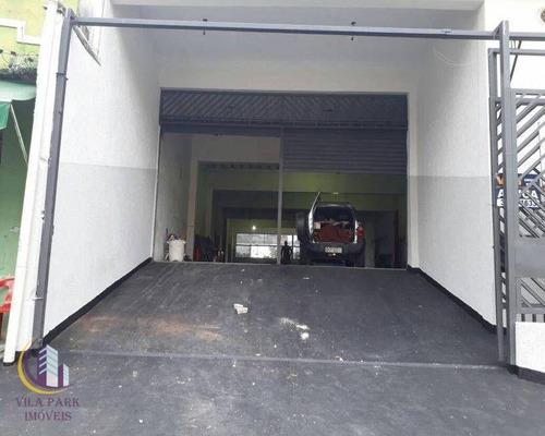 Imagem 1 de 7 de Galpão Para Alugar, 400 M² Por R$ 6.500,00/mês - Vila Osasco - Osasco/sp - Ga0067