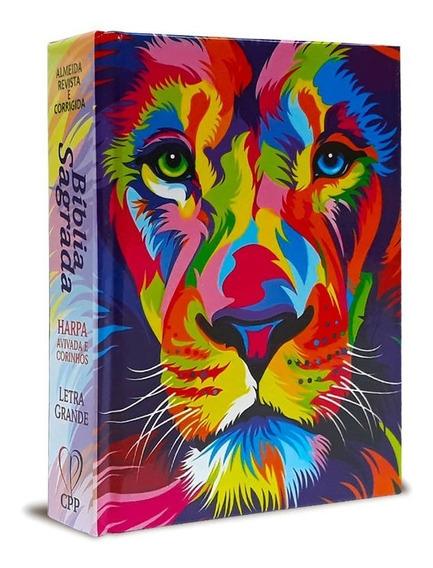 Biblia Sagrada Média Lion Color  Capa Dura  Letra Normal Arc