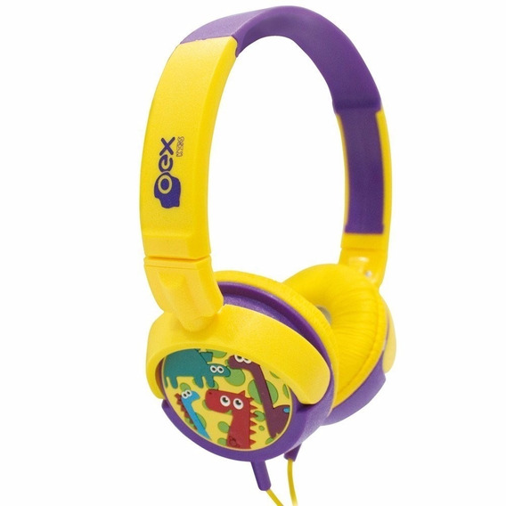 Fone Headphone Oex Dino Infantil Hp300