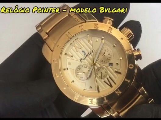 Relógio Pointer Modelo Bv Resistente A Água + 12x Sem Juros